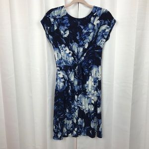 Vince Camuto Blue&White Abstract Print Dress Sz.S